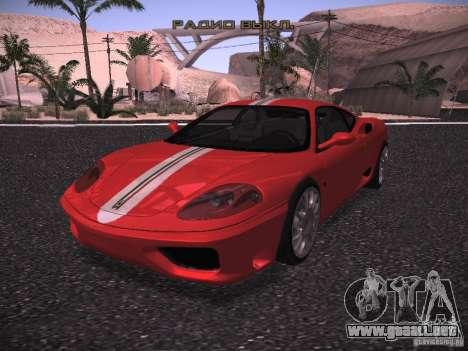 Ferrari 360 Modena para GTA San Andreas vista hacia atrás