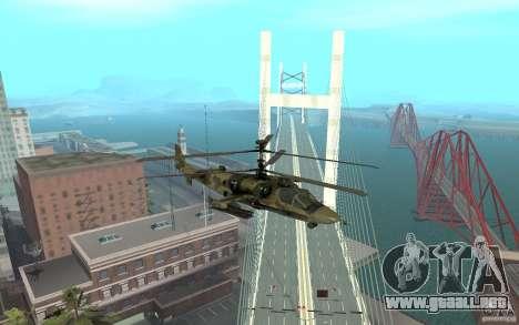 Ka-52 Alligator para la visión correcta GTA San Andreas