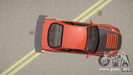 Nissan Skyline GT-R R34 Underground Style para GTA 4 vista hacia atrás