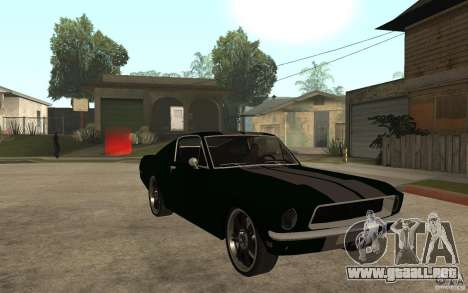 Ford Mustang TOKYO DRIFT para GTA San Andreas vista hacia atrás