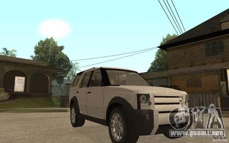 Land Rover Discovery 3 V8 para GTA San Andreas vista hacia atrás