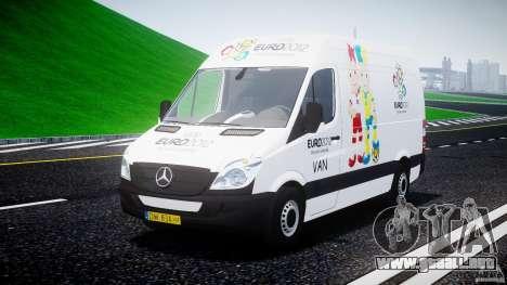 Mercedes-Benz Sprinter Euro 2012 para GTA 4 vista hacia atrás