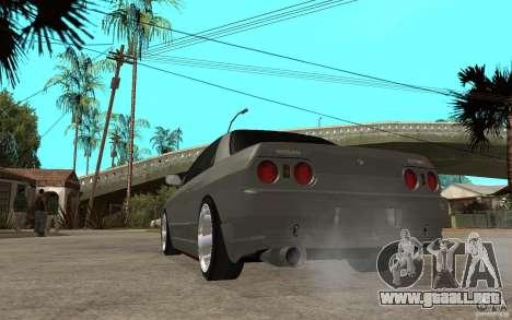Nissan Skyline R32 - EMzone Edition para GTA San Andreas vista posterior izquierda