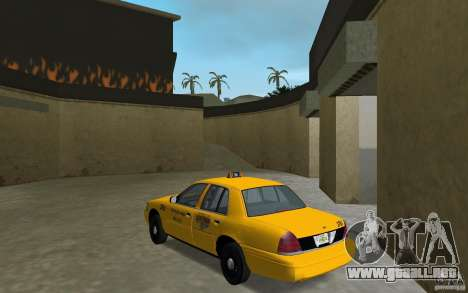 Ford Crown Victoria Taxi para GTA Vice City vista lateral izquierdo
