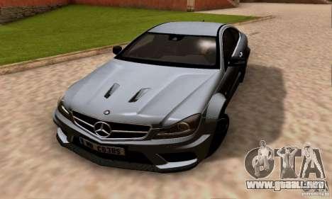 Mercedes-Benz C63 AMG para la vista superior GTA San Andreas