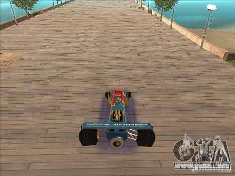 Dragg car para GTA San Andreas vista hacia atrás