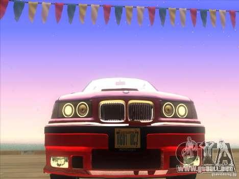 BMW E36 para vista lateral GTA San Andreas
