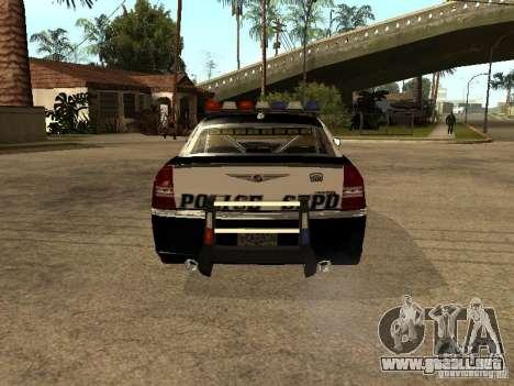 Chrysler 300C Police para la visión correcta GTA San Andreas
