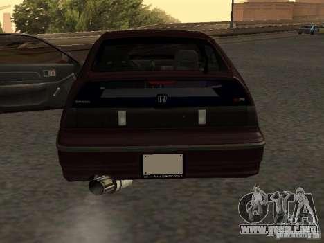Honda Civic CRX JDM para vista lateral GTA San Andreas