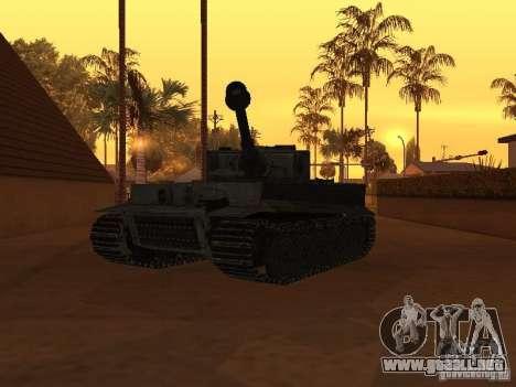 Pzkpfw VI Tiger para la visión correcta GTA San Andreas