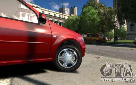 Dacia Logan 2008 para GTA 4 vista hacia atrás