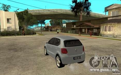 Volkswagen Polo 2011 para GTA San Andreas vista posterior izquierda