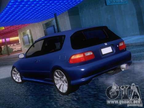 Honda Civic IV GTI para la visión correcta GTA San Andreas