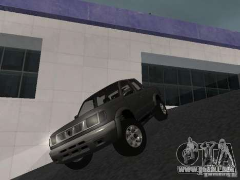 Nissan Frontier para GTA San Andreas vista hacia atrás