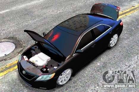 Toyota Camry V6 3.5 2007 para GTA 4 visión correcta
