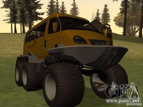 Gacela 2705 swamp buggy para GTA San Andreas vista posterior izquierda