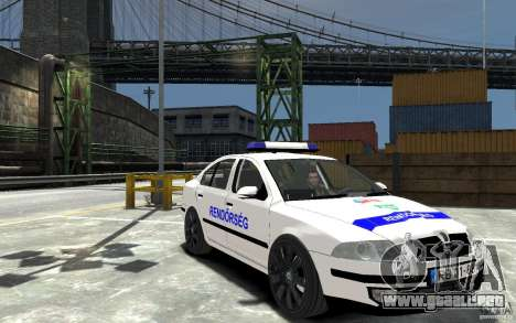 Skoda Octavia 2005 Hungarian Police para GTA 4 vista hacia atrás