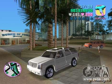 Cadillac Escalade para GTA Vice City
