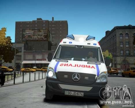 Mercedes-Benz Sprinter Azerbaijan Ambulance v0.2 para GTA 4 vista interior