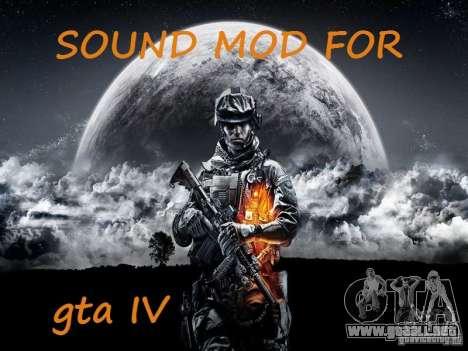 El nuevo sonido de disparos para GTA 4
