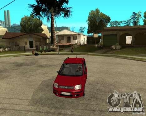 2004 Fiat Panda v.2 para GTA San Andreas vista hacia atrás