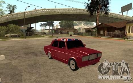 VAZ 2107 Hobo v. 2 para GTA San Andreas vista hacia atrás