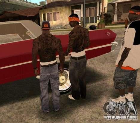 Bandas de reemplazo, tatuajes, ropa, etc.. para GTA San Andreas novena de pantalla