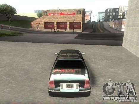Lincoln Town car sedan para la visión correcta GTA San Andreas