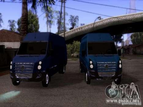 Volkswagen Crafter XL para GTA San Andreas vista hacia atrás