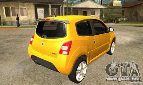 Renault Twingo RS 2009 para la visión correcta GTA San Andreas