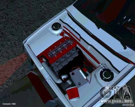 VAZ 2108 Drag para GTA San Andreas vista hacia atrás