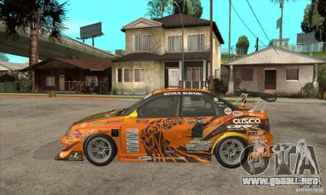 Subaru Impreza D1 WRX Yukes Team Orange para GTA San Andreas left