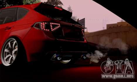 Subaru Impreza WRX Camber para la visión correcta GTA San Andreas