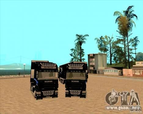 Scania R620 Pimped para GTA San Andreas vista hacia atrás