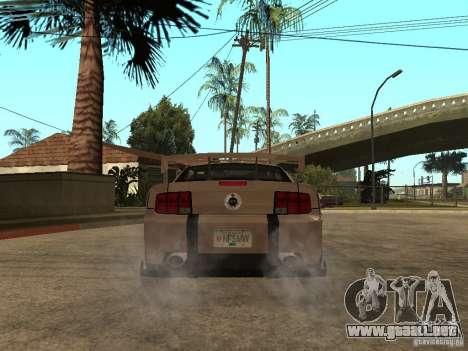 Ford Mustang GT para GTA San Andreas vista posterior izquierda