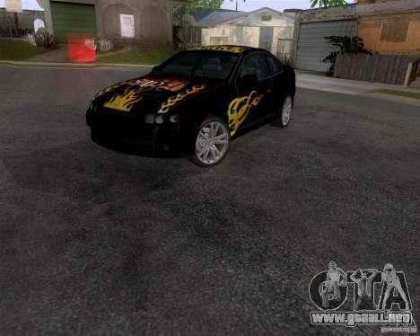 Vauxhall Monaco VX-R para GTA San Andreas vista posterior izquierda