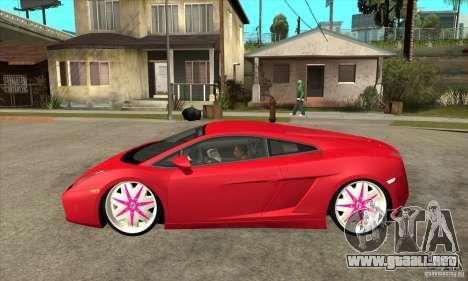Lamborghini Gallardo White & Pink para GTA San Andreas left