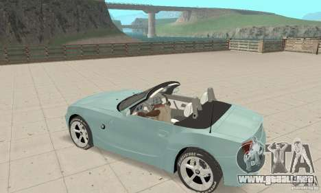 BMW Z4 Roadster 2006 para la vista superior GTA San Andreas
