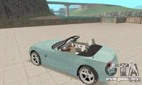 BMW Z4 Roadster 2006 para la vista superior GTA San Andreas