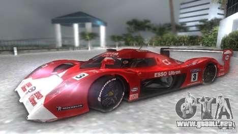 Toyota GT-One TS020 para GTA Vice City visión correcta