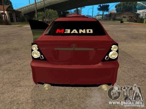 Toyota Camry 2005 TRD para GTA San Andreas vista posterior izquierda
