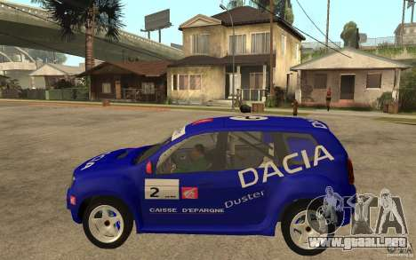 Dacia Duster Rally para GTA San Andreas left