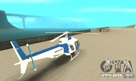 AS-350 Police para GTA San Andreas left