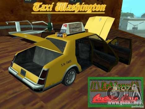 Taxi Washington para GTA San Andreas vista hacia atrás