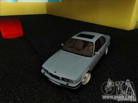 BMW 5 series E34 para GTA San Andreas vista hacia atrás