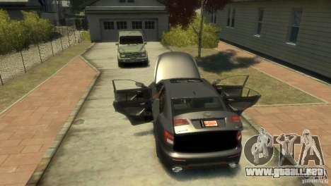 Lexus IS F para GTA 4 vista interior