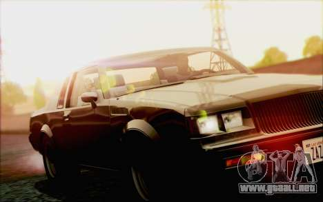 Buick GNX 1987 para vista inferior GTA San Andreas