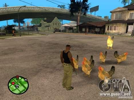 Pollos en GTA San Andreas para GTA San Andreas