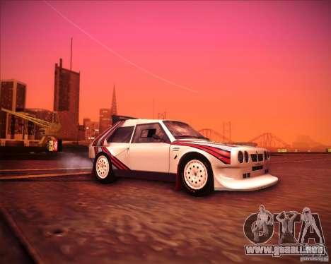 Lancia Delta S4 para la visión correcta GTA San Andreas