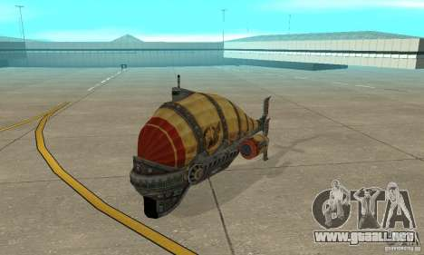 Dirigible de TimeShift para GTA San Andreas left